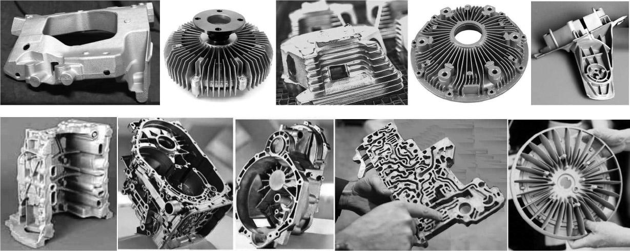 Отливки из алюминиевых сплавов для моторостроения и другие корпусные детали, преимущественно полученные литьем под давлением, из фотогалерей зарубежных сайтов литейной тематики