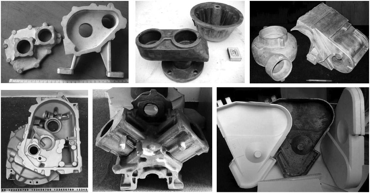 Примеры отливок из алюминиевых сплавов, изготовленных с участием специалистов отдела физико-химии литейных процессов ФТИМС НАН Украины