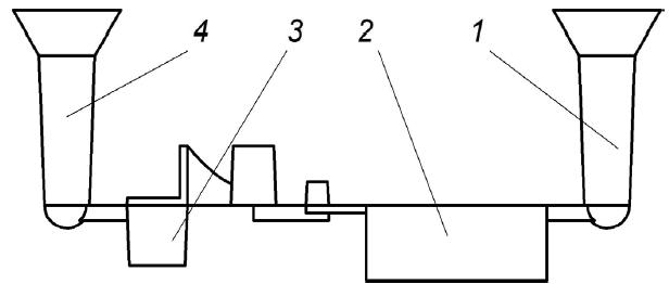 Схема отливки с литниковыми системами