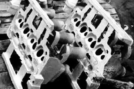 Головки цилиндров отлиты в песчаную форму с использованием сплава системы Al-Ce-Mg